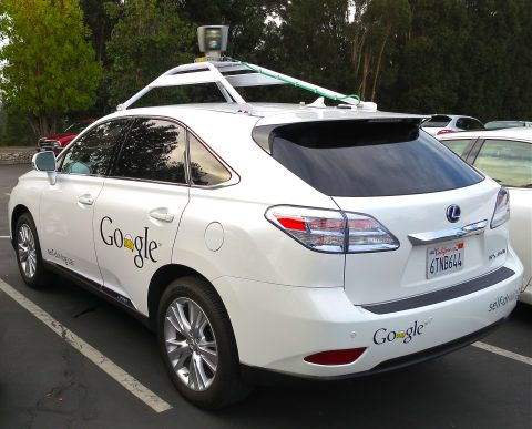 "Google's Lexus RX 450h Self-Driving Car"" by Driving_Google_Self-Driving_Car.jpg: Steve Jurvetsonderivative work: Mariordo - This file was derived from  Driving Google Self-Driving Car.jpg:. Licensed under CC BY 2.0 via Commons - https://commons.wikimedia.org/wiki/File:Google%27s_Lexus_RX_450h_Self-Driving_Car.jpg#/media/File:Google%27s_Lexus_RX_450h_Self-Driving_Car.jpg"