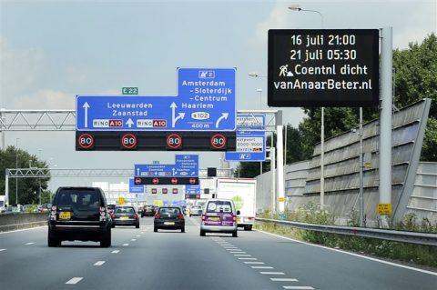 Informatieborden snelweg