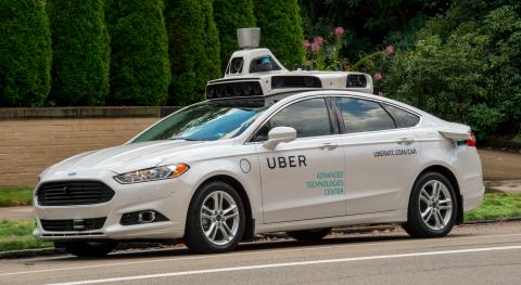 Uber, zelfrijdende auto