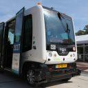 Een WEpod op de campus van de TU Delft