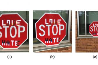 Sticker op stopbord misleidt zelfrijdende voertuigen
