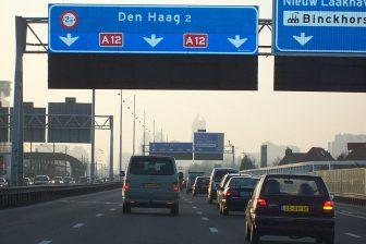 Snelweg A12 richting Den Haag