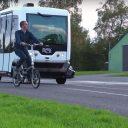 Eerste test België test voor het eerst zelfrijdende shuttle. Bron: Youtube/Vias Institute