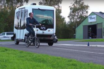 Eerste test België zelfrijdende shuttle