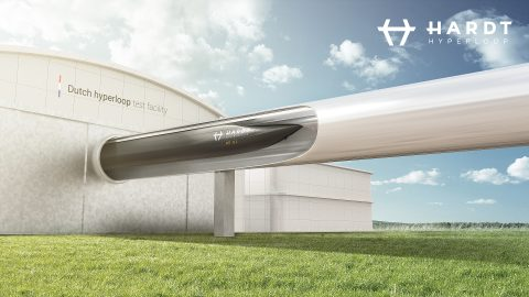 Hyperloop testfaciliteit, foto: Hardt Hyperloop