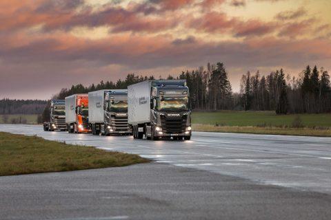 Truck platooning Scania