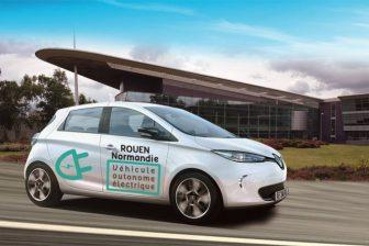 Autonoom voertuig Rouen Frankrijk Transdev Renault