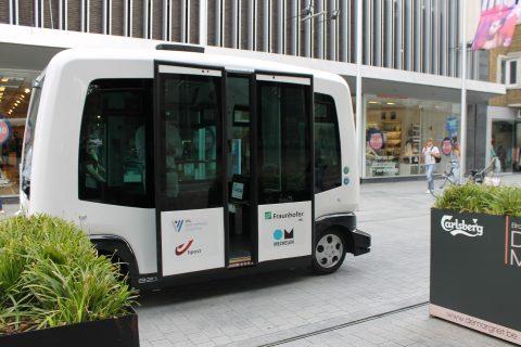 De EZ10 van EasyMile in Mechelen