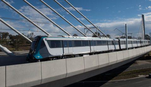 Sydney Metro trein test Windsor Road