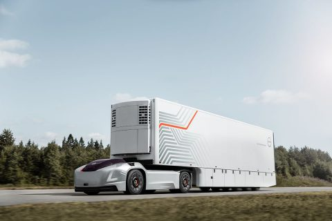 Zelfrijdende truck Volvo