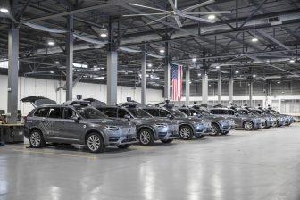 De zelfrijdende Volvo's van Uber