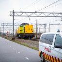 Zelfrijdende locomotief op de Betuweroute, foto: ProRail