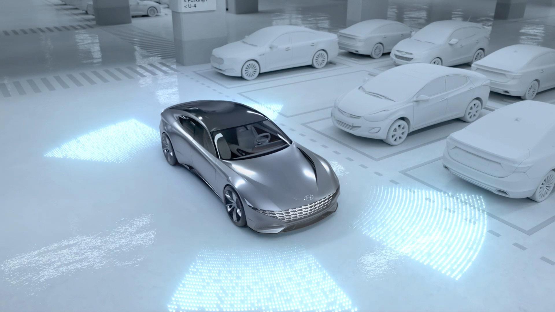 Hyundai Systeem Voor Draadloos Opladen En Autonoom Parkeren