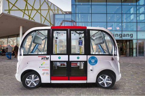 Zelfrijdende minibus HTM
